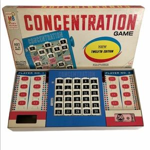 Vintage 1968 Concentration Board Game 12th Edition